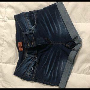 Fashion Nova cuffed jean shorts